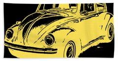 Classic Beetle Tee Yellow Ink Hand Towel