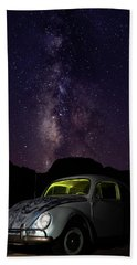 Classic Vw Bug Under The Milky Way Hand Towel