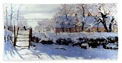 Claude Monet The Magpie - To License For Professional Use Visit Granger.com Bath Towel
