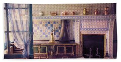 Hand Towel featuring the photograph Claude Monet's Kitchen by John Rivera