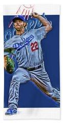 Clayton Kershaw Los Angeles Dodgers Oil Art Hand Towel