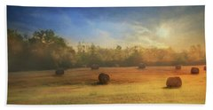 Hand Towel featuring the photograph Clayton Morning Mist by Lori Deiter