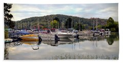 Hand Towel featuring the photograph Claytor Lake Marina by Kerri Farley