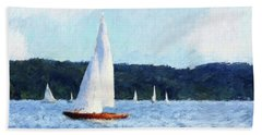 Clear Sailing Hand Towel by Shirley Stalter