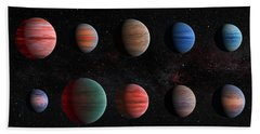 Clear To Cloudy Hot Jupiters Bath Towel