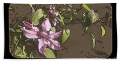 Hand Towel featuring the photograph Clematis by Jodie Marie Anne Richardson Traugott          aka jm-ART