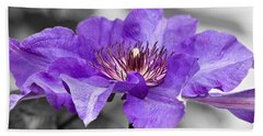 Clematis Hand Towel by Scott Carruthers