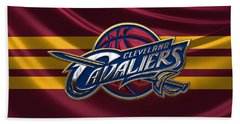 Cleveland Cavaliers - 3 D Badge Over Flag Hand Towel