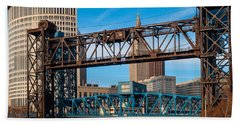 Cleveland City Of Bridges Bath Towel