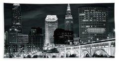 Cleveland Iconic Night Lights Hand Towel