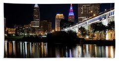 Bath Towel featuring the photograph Cleveland In The World Series 2016 by Dale Kincaid
