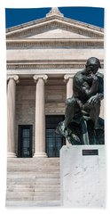 Cleveland Museum Of Art, The Thinker Bath Towel
