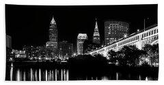 Cleveland Skyline Hand Towel