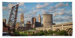 Cleveland Summer Skyline  Bath Towel