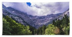 Cliff Over The Trees Hand Towel