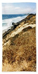 Cliff View - Carlsbad Ponto Beach Hand Towel