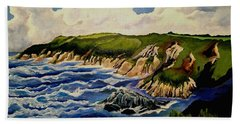 Cliffs And Sea Hand Towel