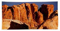Cliffs In Valley Of Fire State Park, Nv Hand Towel