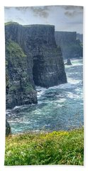 Cliffs Of Moher Hand Towel by Alan Toepfer