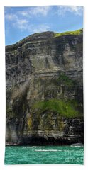 Hand Towel featuring the photograph Cliffs Of Moher From The Sea Close Up by RicardMN Photography