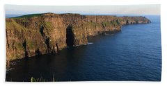 Cliffs Of Moher In Evening Light Bath Towel