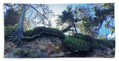 Hand Towel featuring the photograph Cliffside by Adria Trail