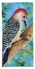 Hand Towel featuring the painting Climbing by AnnaJo Vahle