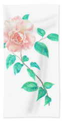 Hand Towel featuring the painting Climbing Rose by Elizabeth Lock