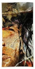 Hand Towel featuring the digital art Clint Eastwood by Michael Cleere
