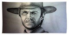 Clint Eastwood Portrait  Hand Towel