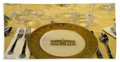 Clinton State Dinner 2 Hand Towel by Randall Weidner