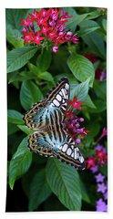 Clipper Butterfly On Star Flower Hand Towel