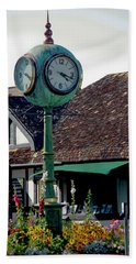 Bath Towel featuring the photograph Clock Of Solvang by Ivete Basso Photography