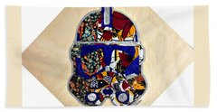 Clone Trooper Star Wars Afrofuturist Hand Towel
