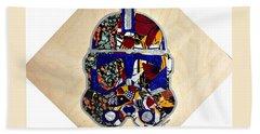 Bath Towel featuring the tapestry - textile  Clone Trooper Star Wars Afrofuturist by Apanaki Temitayo M