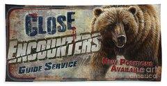 Close Encounters Bear Hand Towel