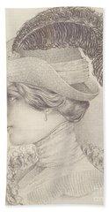 Close-up Of A Young Woman, Austria, 1910 Bath Towel