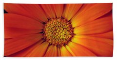 Close Up Of An Orange Daisy Hand Towel