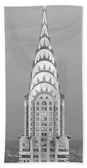Close Up Of The Chrysler Building At Sunset. It Is The View From 42nd Street And 5th Avenue. Hand Towel