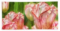 Close Up Tulips Hand Towel