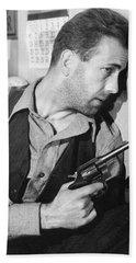 Close-up Up Of Humphrey Bogart As Duke Mantee With Gun The Petrified Forest 1936 Bath Towel