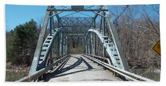 Road Closed To Traffic Bath Towel by Catherine Gagne