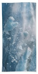Closeup Of Dawes Glacier Calving Hand Towel