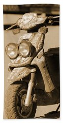 Closeup Of Jesus Scooter In Sepia Hand Towel