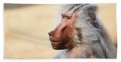 Closeup Portrait Of A Male Baboon Hand Towel
