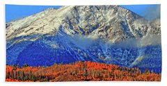 Hand Towel featuring the photograph Closing In On Fall by Scott Mahon