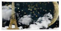 Cloud Cities Paris Hand Towel