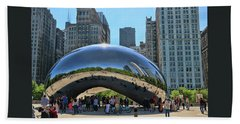 Cloud Gate, A K A The Bean # 9 Bath Towel
