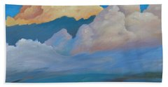 Bath Towel featuring the painting Cloud On The Rise by Gary Coleman