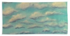 Cloud Study Cropped Image Bath Towel